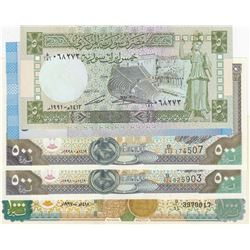 Syria, 5 Pounds, 500 Pounds (3) and 1.000 Pounds, 1988/2014, UNC, (Total 5 banknotes)br/