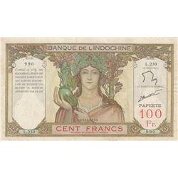 Tahiti, 100 Francs, 1939, VF, p14br/Banque de l'Indochine, serial number: L.230.990