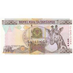 Tanzania, 5.000 Shillings, 1997, UNC, p32br/serial number: CF 9874486