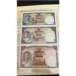 Thailand, 10 Baht, 2007, UNC, p117, FOLDER, (Total 3 banknotes)br/commemorative Issue