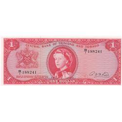 Trinidad and Tobago, 1 Dollar, 1964, UNC, p26bbr/Queen Elizabeth II portrait, serial number: B/1 188