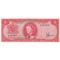 Trinidad and Tobago, 1 Dollar, 1964, XF, p26cbr/Queen Elizabeth II portrait, serial number: L/3 2610
