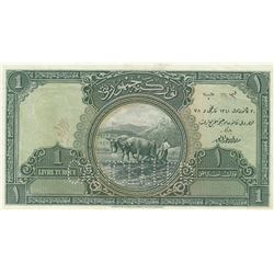 Turkey, 1 Livre, 1927, UNC (-), 1/1. Emission, p119, SPECIMENbr/no serial number. Although there are