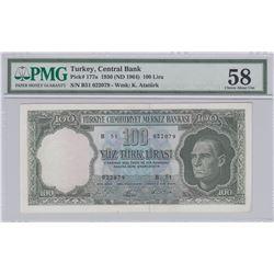 Turkey, 100 Lira, 1964, AUNC, 5/5. Emission, p177br/PMG 58, Atatürk portrait, serial number: B51 022