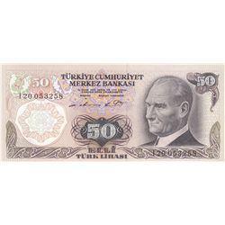 Turkey, 50 Lira, 1976, UNC, 6/1. Emission, p187A, br/serial number: I20 053258