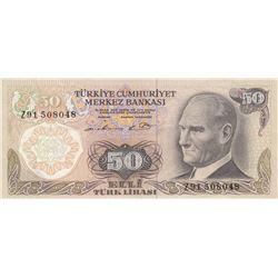 Turkey, 50 Lira, 1976, XF, 6/1. Emission, p187A, REPLACEMENTbr/Atatürk portrait, serial number: Z91