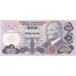 Turkey, 1.000 Lira, 1981, UNC (-), 6/3. Emission, p191br/serial number: F84 859510, there is no sign
