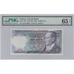 "Turkey, 10.000 Lira, 1982, UNC, 7/1. Emission, p199, ""A01""br/PMG 65 EPQ, Atatürk portrait, serial nu"