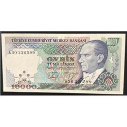 "Turkey, 10.000 Lira, 1993, UNC, 7/4. Emission, p200, ""K30""br/Atatürk portrait, serial number: K30 22"