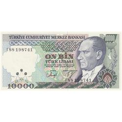 Turkey, 10.000 Lira, 1993, UNC, 7/4. Emission, p200br/Atatürk portrait, serial number: I88 198741