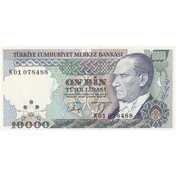 """Turkey, 10.000 Lira, 1993, UNC, 7/4. Emission, p200, """"K01"""" first prefixbr/serial number: K01 078488"""
