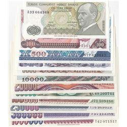 Turkey, 10 Lira, 100 Lira, 500 Lira, 1.000 Lira, 5.000 Lira, 10.000 Lira, 20.000 Lira, 50.000 Lira,