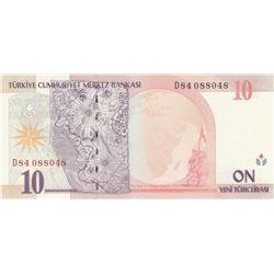 Turkey, 10 New Turkish Lira, 2005, UNC, 8. Emission, p218, RADARbr/Atatürk portrait, serial number: