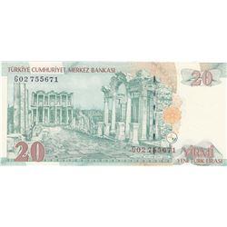 "Turkey, 20 New Turkish Lira, 2005, UNC, 8. Emission, p219, ""G02""br/Atatürk portrait, serial number:"