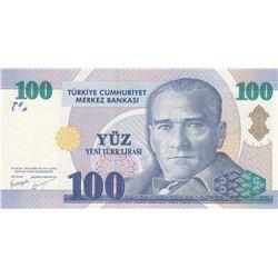 Turkey, 100 New Turkish Lira, 2005, UNC, 8/1. Emission, p221br/Atatürk portrait, serial number: A03