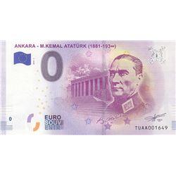 Turkey, 0 Euro, 2019, UNC, FANTASY BANKNOTE, Atatürkbr/Republic of Turkey's founder Mustafa Kemal At