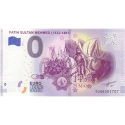 Turkey, 0 Euro, 2019, UNC, FANTASY BANKNOTE, Fatih Sultan Mehmedbr/