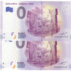Turkey, 0 Euro, 2019, UNC, FANTASY BANKNOTE, Sanliurfa- Göbeklitepe, (Total 2 banknotes)br/