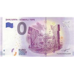 Fantasy banknotes, 0 Euro, 2018, UNC, Sanliurfa-  Göbekli Tepebr/serial number: TUAC003239