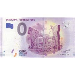 Fantasy banknotes, 0 Euro, 2018, UNC, Sanliurfa-  Göbekli Tepebr/serial number: TUAC003111