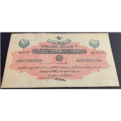 Turkey, Ottoman Empire, 1/2 Lira, 1916, UNC, p82, Talat /Hüseyin Cahidbr/V. Mehmed Resad period, AH: