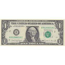 United States of America, 1 Dollar, 1988, UNC, p480, RADARbr/serial number: B 91266219 I