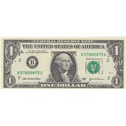 United States of America, 1 Dollar, 2003, UNC, p515, RADARbr/serial number: B 57800875 G
