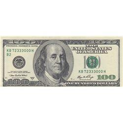 United States Of America, 100 Dollars, 2006, AUNC (-), p528br/serial number: KB 72333000 H