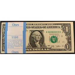 United States of America, 1 Dollar, 2009, UNC, p530, (Total 95 consecutive banknotes)br/start serial