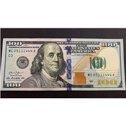 United States Of America, 100 Dollars, 2013, AUNC, p543br/serial number: MC 05111444A