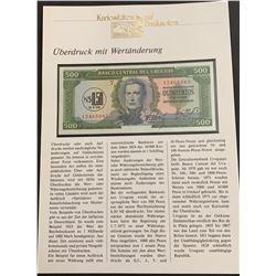 Uruguay, 500 Pesos, 1975, UNC, p54, FOLDERbr/FOLDER in German