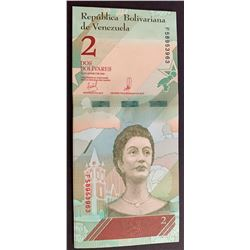Venezuela, 2 Bolivares (20), 2018, UNC, pNew, (Total 20 banknotes)br/Most of the banknotes are in se