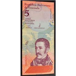 Venezuela, 5 Bolivares (15), 2018, UNC, pNew, (Total 15 consecutive banknotes)br/serial numbers: D 4