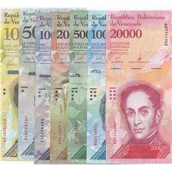 Venezuela, 100 Bolivares, 500 Bolivares, 1.000 Bolivares, 2.000 Bolivares, 5.000 Bolivares, 10.000 B