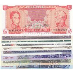 Venezuela, 5 Bolivares, 10 Bolivares, 20 Bolivares, 50 Bolivares, 100 Bolivares, 500 Bolivares, 1000