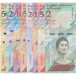 Venezuela, 2 Bolivares, 5 Bolivares, 10 Bolivares, 20 Bolivares, 50 Bolivares, 100 Bolivares, 200 Bo