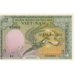 Viet-Nam, 5 Dong, 1955, UNC, p2br/serial number: A3 878881