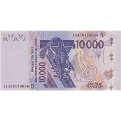West African States, Mali, 10.000 Francs, 2014, UNC, p418D br/serial number: 14450179096