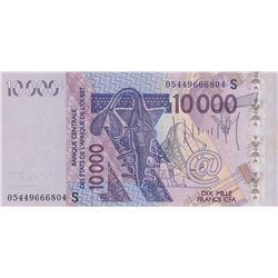 West African States, Guinea Bissau, 10.000 Francs, 2005, UNC, p918Sc  br/serial number: 05449666804