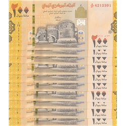 Yemen, 200 Rials, 2018, UNC, pNew, (Total 10 consecutive banknotes)br/serial numbers: A/27 4212301-1