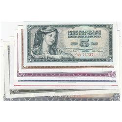 Yugoslavia, 5 Dinara, 10 Dinara, 20 Dinara, 50 Dinara, 100 Dinara, 500 Dinara and 1000 Dinara, 1968/