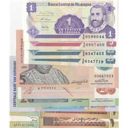 Mix Lot, 10 banknotes in whole UNC conditionbr/Nicaragua, 1 Centavo, Nicaragua, 5 Centavos, Nicaragu