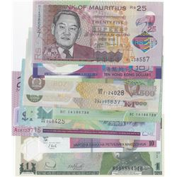 Mix Lot, POLIMER banknote set consisting of 10 banknotes of different countries, all in UNC conditio