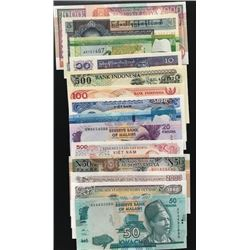 Mixed Lot of 14 UNC banknotes, many of which are different from each otherbr/Somalia, 50 Shillings,