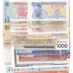 Mix Lot, 21 different banknotes between FINE and UNC conditionbr/French Indo-China, 5 Francs, 1934,