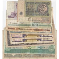 Lot of 11 banknotes; Between FINE and XF conditionbr/Italy, 100 Lire; Cambodia, 500 Riels; Bulgaria,