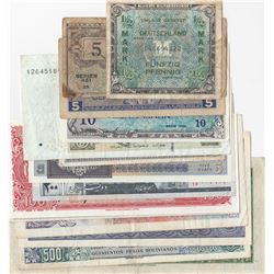 Mix Lot, 14 different banknotes.br/Bolivia, 100 Pesos, 1962, AUNC; Iran, 200 Rials, 1982, XF; China,