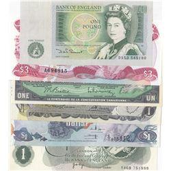 """Mix Lot, Total 6 pcs UNC condition """"QUEEN ELIZABETH II"""" banknotesbr/Canada, 1 Dollar, 1973; Canada,"""