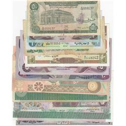 """Mix Lot, Total 12 """"ARABIAN COUNTRY"""" banknotes lotbr/Syria, 50 Pounds, 1998, Aunc; Syria, 500 Pounds,"""