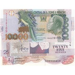 Mix Lot, 3 banknotes in whole UNC conditionbr/Sao Tome and Principe 500 Dobras, Sao Tome and Princip